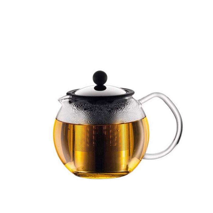 Bodum - Assam Tea Press with Stainless Steel FIlter 1L Silver (1801-16)