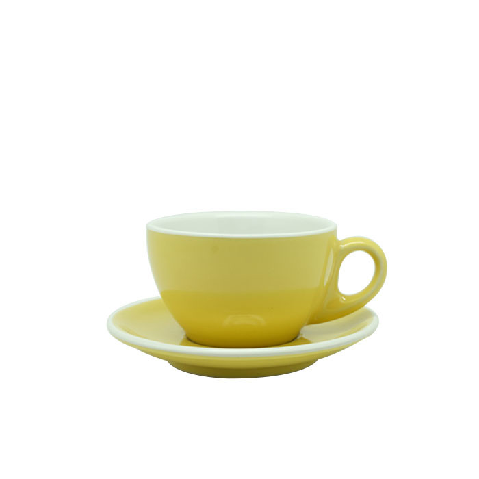 Cup and Saucer Latte 270ml (Yellow)