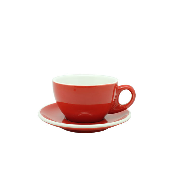 Cup and Saucer Latte 270ml (Red)