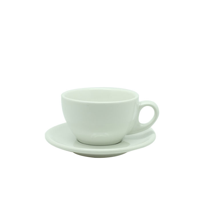 Cup and Saucer Latte 270ml (White Gloss)