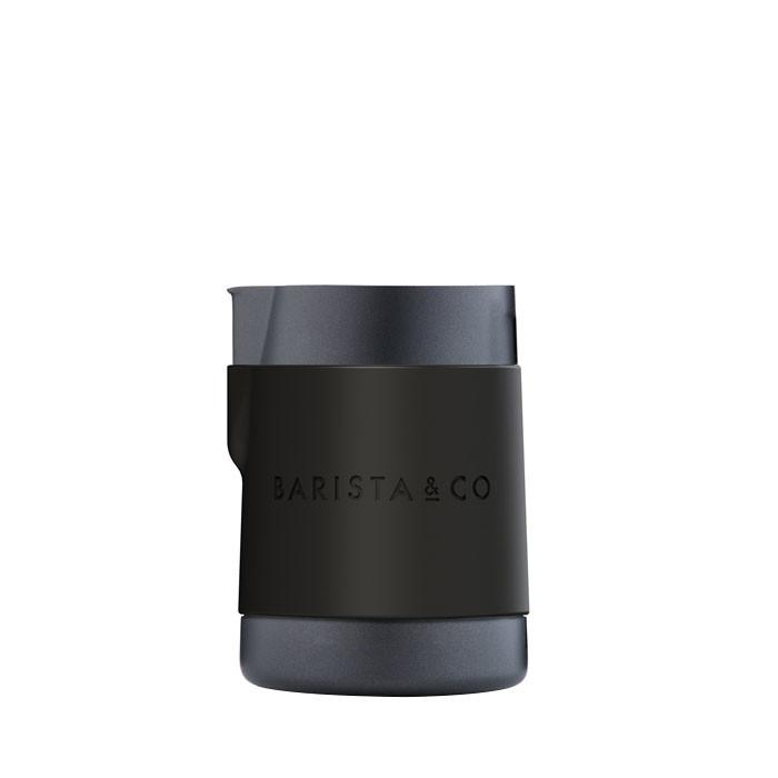 Barista & Co - Shorty Stainless Steel Professional Milk Jug 600ml (Black Non-Stick)