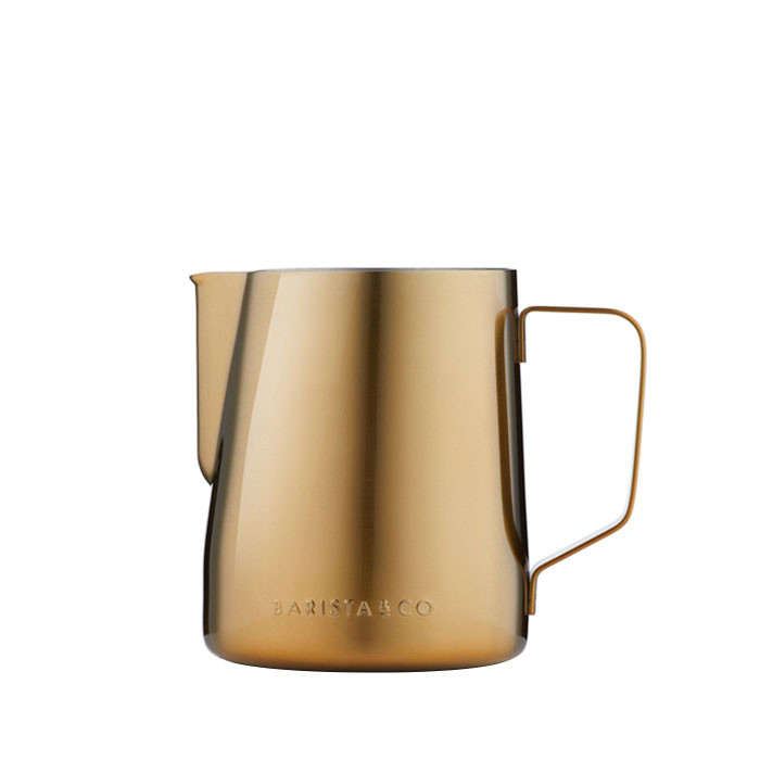 Barista & Co - Core Stainless Steel Milk Jug 600ml (Gold)