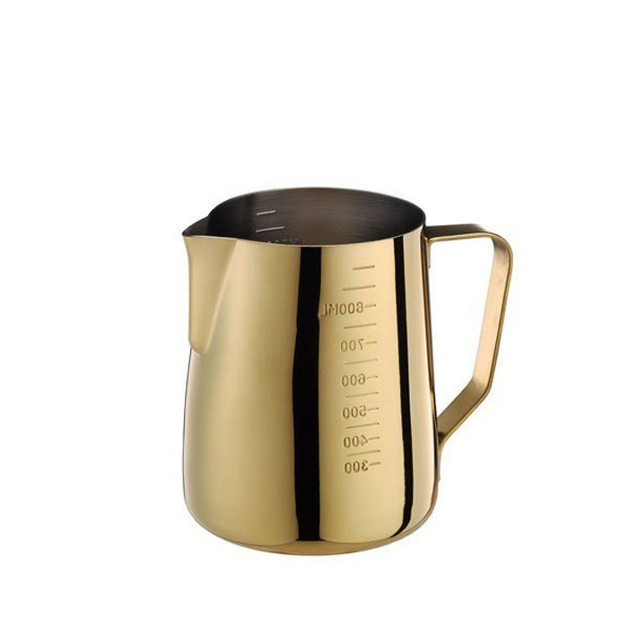 Tiamo - Milk Pitcher Golden Plating 950ml with Scale (HC7091)