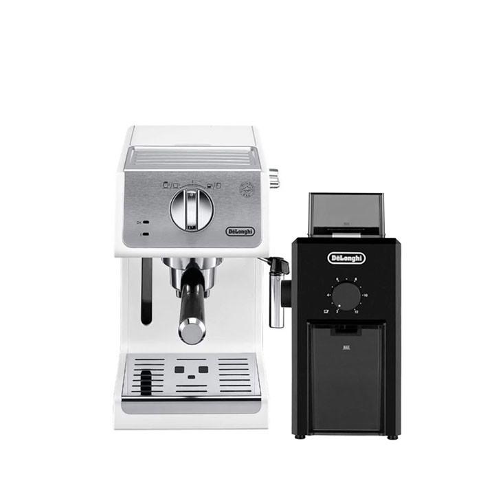 Delonghi - Espresso Machine ECP 33.21.W + Coffee Grinder KG79