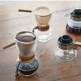 Hario Drip Pot Woodneck Olive Wood DPW-3-OV
