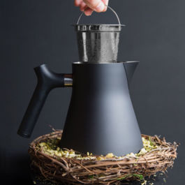 Fellow - Raven Stovetop Kettle + Tea Steeper (Steel)