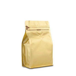 Coffee Bag 250G Box Pouch with Zipper Gold (10pcs)