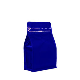 Coffee Bag 250G Box Pouch with Zipper Blue (10pcs)