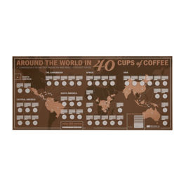 33 Books - Around the World in 40 Cups: Unique Coffee Tasting Map