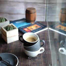 ACME - Cappuccino Cup 190ml with Saucer Green (Feijoa)