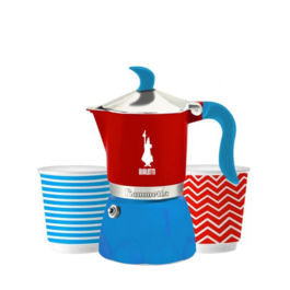 Bialetti - Fiammetta Set Pop Blue/Red (3 Cups)