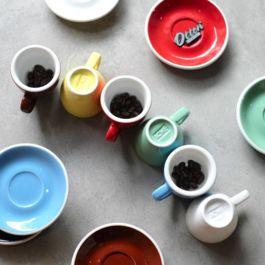 ACME - Latte Cup 280ml with Saucer Blue (Kokako)