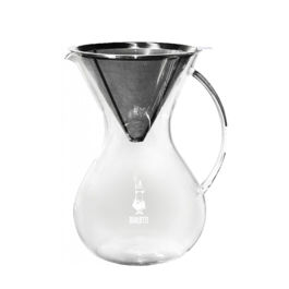Bialetti - Pour Over Stainless Steel 2 Cups + Glass Jar
