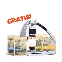 Langganan 4 bungkus kopi (1 tahun) - Free Flair Espresso Maker (Signature Chrome)