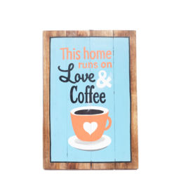 Artworks - This Home Runs on Love & Coffee (Large)