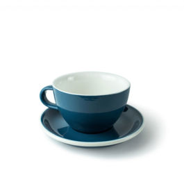 ACME - Latte Cup 280ml with Saucer Dark Blue (Whale)