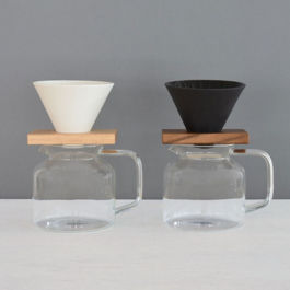 Rivers - Coffee Dripper Cave + Holder (Brown)