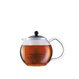Bodum - Assam Tea Press with Glass Handle and Plastic Lid 0.5L Black (1823-01)