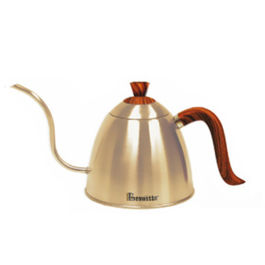 Brewista - Stovetop Gooseneck Kettle with Wood Grain Handle and Lid 700ml Champagne Gold (BV382607STWCG)