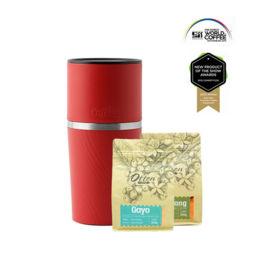 Cafflano - Klassic Coffee Maker Red (Free Arabica Gayo + Sidikalang)
