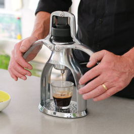 Rok Presso GC - Manual Espresso Maker (Glass Composite) - Silver