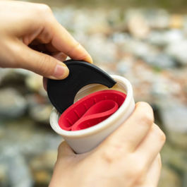 Rivers - Coffee Dripper Holder Pond-F (Red)