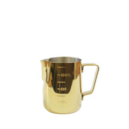 Tiamo - Milk Pitcher Golden Plating 360ml with Scale (HC7089)