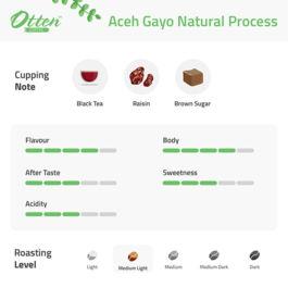 Aceh Gayo Natural Process 500g Kopi Arabica