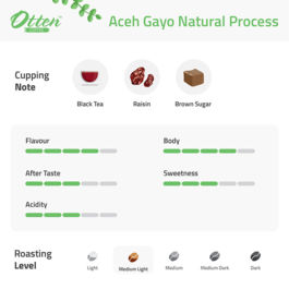 Aceh Gayo Natural Process 200g Kopi Arabica